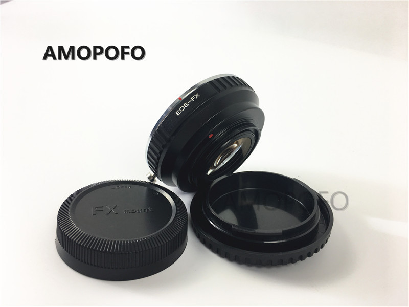 Amopofo For EOS-FX Focal Reducer Speed Booster Adapter For Canon EF Lens to Fuji FX X-Pro1, X-E1, X-E2, X-M1, X-A, SR/X-600 amopofo md fx focal reducer speed booster adapter for minolta mc md lens to fuji fx x pro1 x e1 x e2 x m1 x a sr x 600