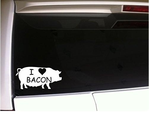 Vinyl Sticker Waterproof Decal GT Graphics Bacon Elements Funny Pork Nerd