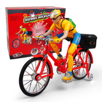 Electric Toys Bicycles Electric Character Bicycles Children Music Luminous Diecast Toy Vehicle Hiking Man Foldable Toy Bicycle