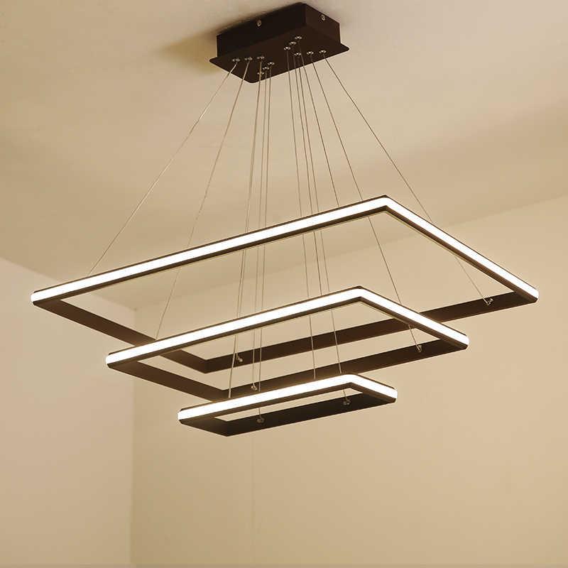 Minimalismo marrón/blanco Estilo nórdico LED luces colgantes para Comedor  Cocina Sala colgante suspensión accesorios de lámpara
