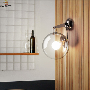 Modern Bubble Glass Ball Wall Light Desktop Floor Wall Lamp Nordic Home Lighting Living Room Bedroom Bedside Decor Luminaire