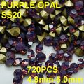 SS20 1440pcs/bag  New Design Golden Point Back Opal Rhinestones for Nail Art 4.8mm-5.0mm  Diy Crystal Rhinestones Decoration