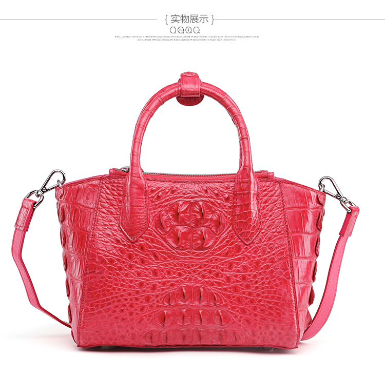 100% genuine crocodile skin leather women handbag shoulder bag, fashion alligator skin women cross body tote bag yuanyu the new crocodile skin female bag imported crocodile leather single shoulder bag genuine handbag alligator women handbag