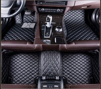 For BMW X6 e71 2008 2014 Leather Car Floor Auto Mats Waterproof Mat For BMW Series All Supply Black Brown Red Blue purple