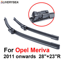 SLIVERYSEA Wiper Blades For Opel Meriva 2011 onwards 28+23R High Quality Iso9001 Natural Rubber Clean Front Windshield CPC1