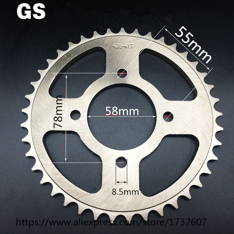 EN GS 36T <font><b>38T</b></font> 39T 41T 43T Motorcycle <font><b>sprocket</b></font>/ EN GS motorcycle <font><b>sprocket</b></font>/Engine <font><b>Sprocket</b></font> Teeth/Motorcycle Dirt image