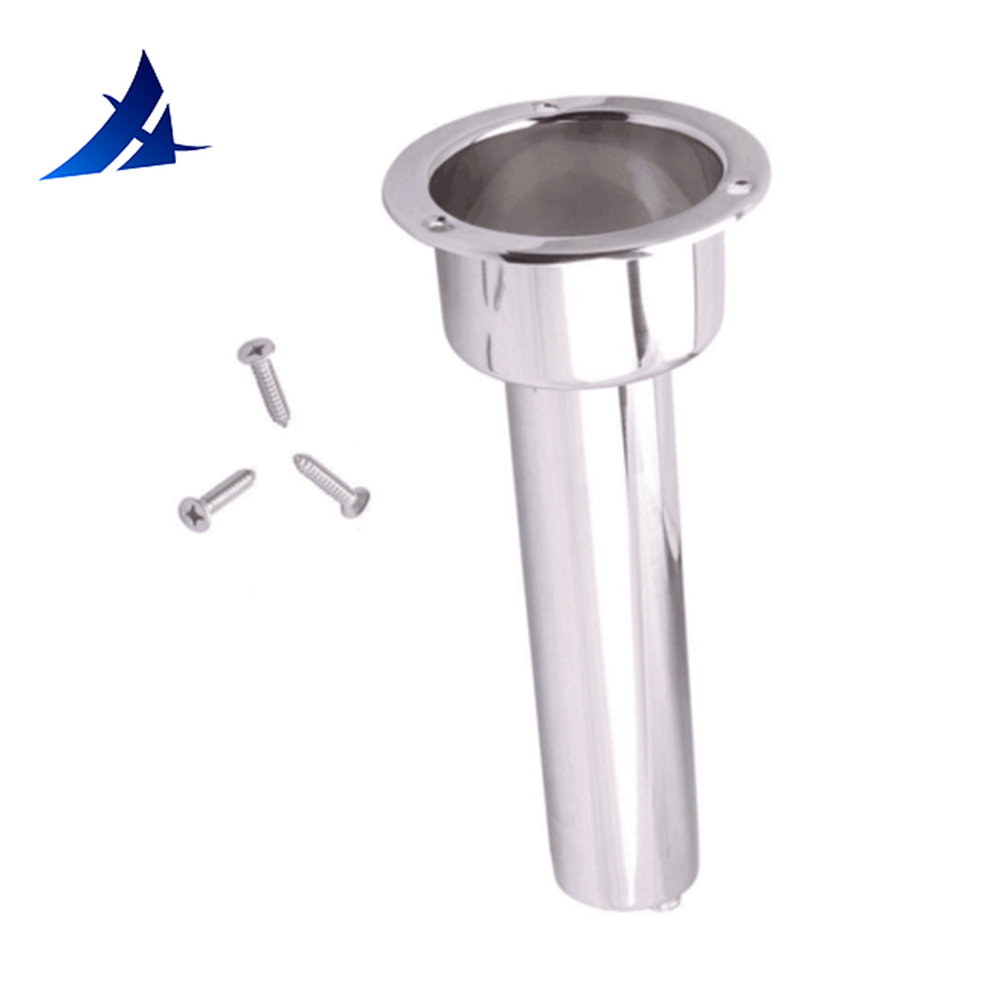 NEW ARRIVAL BOAT STAINLESS STEEL FISHING ROD HOLDER  OUTRIGGER PLUG-IN ROD POD ROD HOLDER + CUP HOLDER