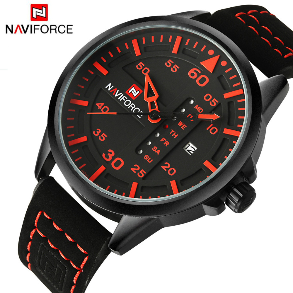 NAVIFORCE Luxury Brand Date Japan Movement Men Quartz Casual Watch Army Military Sports Watch Men Watches Male Leather Clock naviforce luxury brand date japan movement men quartz casual watch army military sports watch men watches male leather clock
