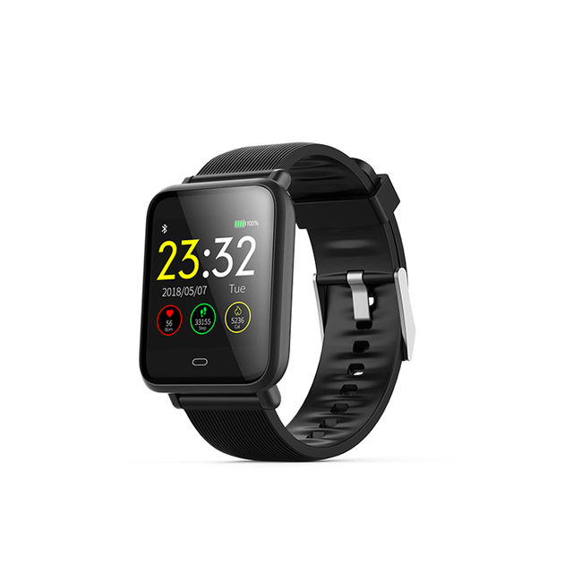cheap for discount 57596 785c5 US $25.51 24% OFF|Q9 Smart Watch Blood Pressure Men Women Smartwatch Heart  Rate IP67 Waterproof for Xiao mi Huawei IOS Android Phone-in Smart Watches  ...