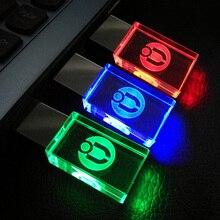 Customerized логотип Кристалл прозрачный usb флэш-накопитель 8 GB 16 ГБ 32 ГБ 64 ГБ usb-накопитель бизнес Style интерфейсом USB/прокатиться