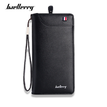 Baellerry Brand Long Wallet Men High Quality Clutch PU Leather Purse Male Pocket for Photo Card Mobile phone Money Bag ivotkova luxury brand high quality pu leather men long bifold wallet purse vintage designer male carteira money clip slim wallet