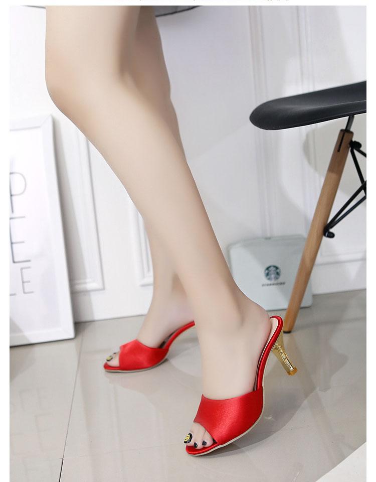 caf5e81ff9774d Ladies Flip Flops High Heel Slippers Women Pointed Toe Shoes Pantofle  Damskie Sandals Bridal Shoe Women 2017 Women Summer Shoes. 750. 01. 02. 03