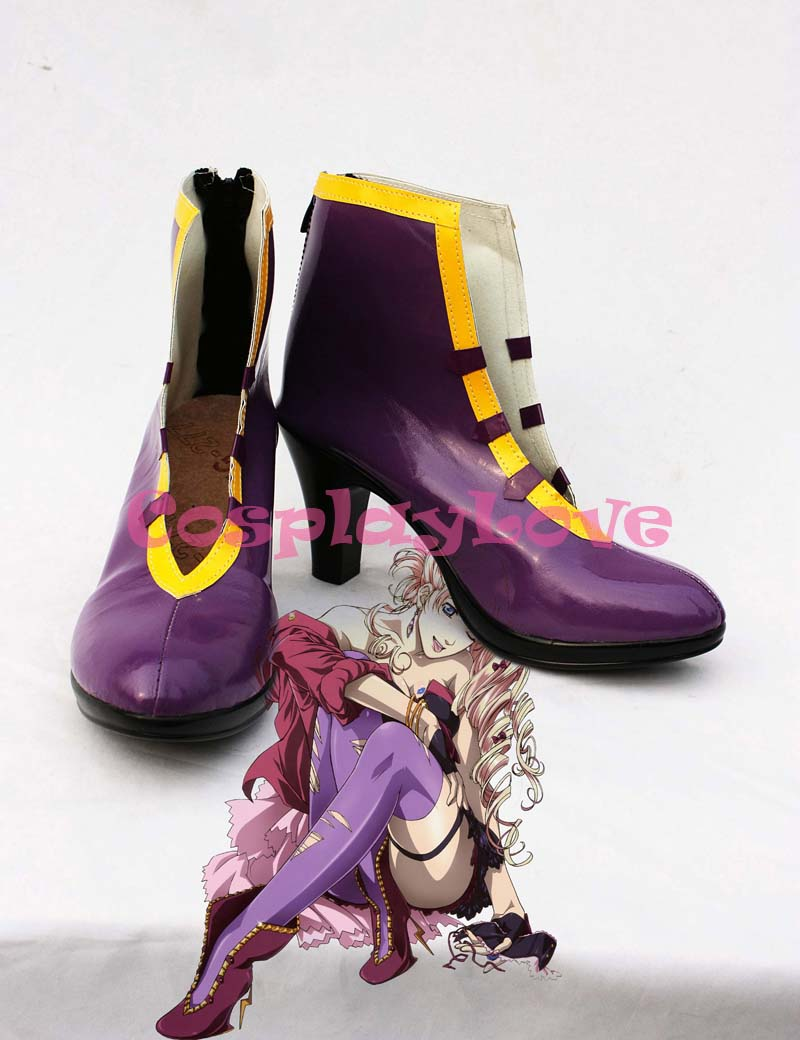 Custom-made Macross Frontier Sheryl Nome Purple Cosplay Shoes Boots Hand Made For Halloween Christmas Festival CosplayLove