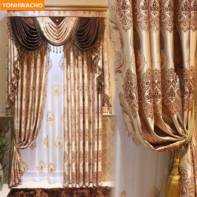 Custom Curtains Luxury European Jacquard High Grade Floor