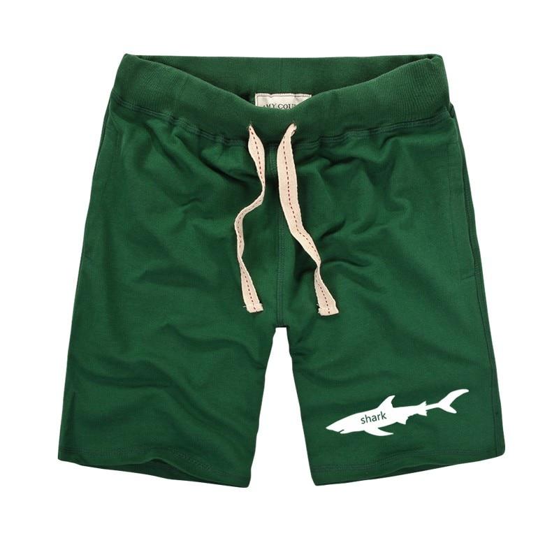 Harajuku Styles 2019 Summer Brand Men's Shorts Novelty Cartoon Shark Printing Tide Men Shorts Slim Fit Boardshorts Plus Size