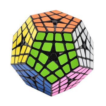 ShengShou Five 2019 New Arrivals Corners Brain Teaser Magic Cube Master Kilominx Speed Cube Twisty Puzzle Toy - Black