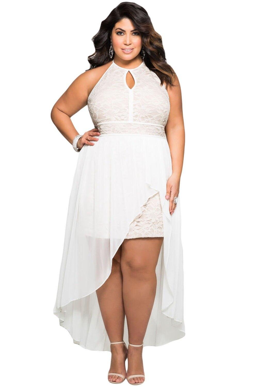 dress - Evening White dresses plus size video