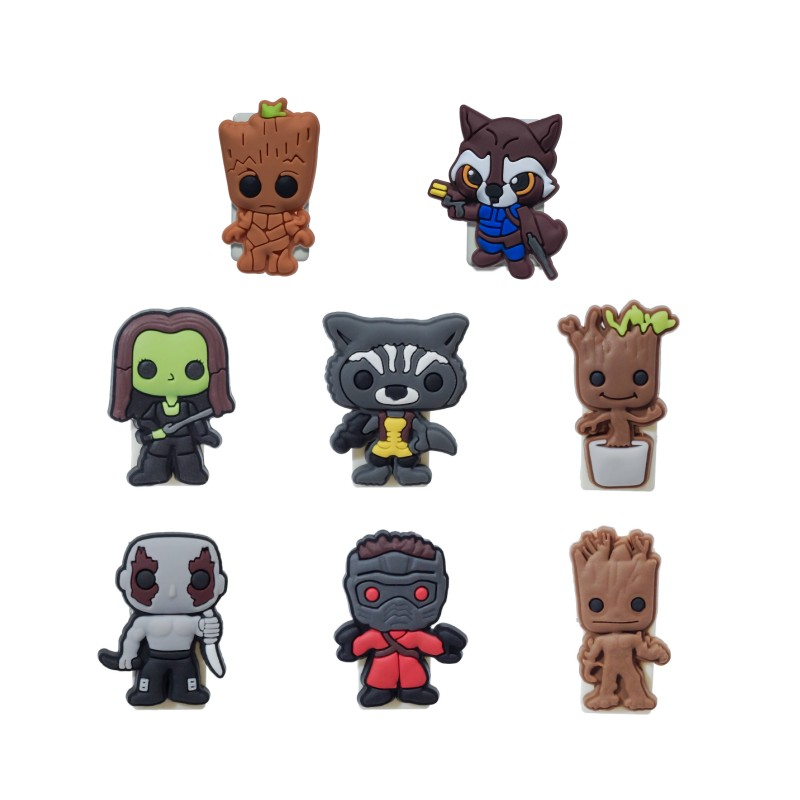 1pcs Anime Paper Clips Cute Groot Card Note Holder Cartoon Bookmarks School Office DIY Clips USB Binding Gift
