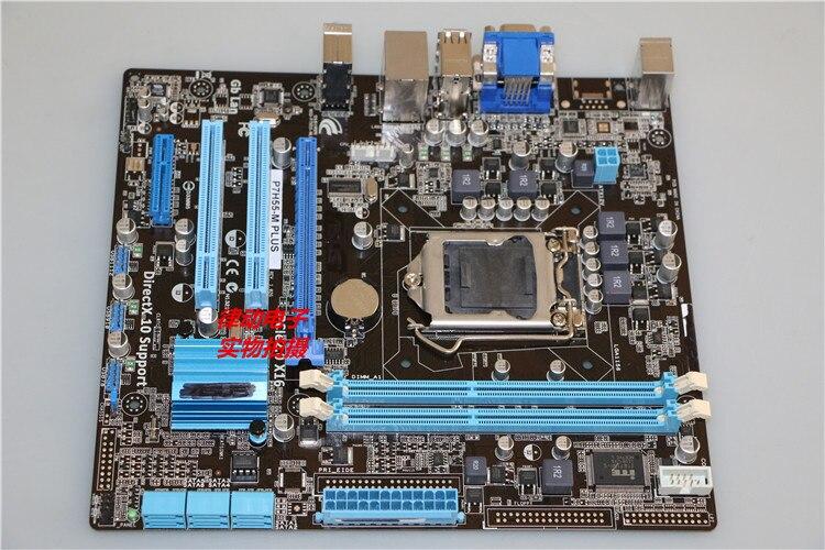 ASUS p7h55-m плюс материнская плата lga 1156 DDR3 плата 8 ГБ H55 рабочего Материнская плата Бесплатная доставка