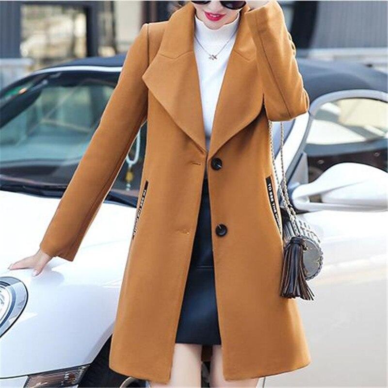 Grande Édition Yagenz Hiver Nouvelle Et Femmes Automne Taille Tempérament Vêtements Kg575 Jeunes Laine Cachemire black Gray Han Manteau khaki wH0qP