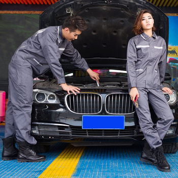 1set Autumn and winter new car repair beauty long-sleeved overalls suite for BMW workshop wear overalls set spotter blacharski
