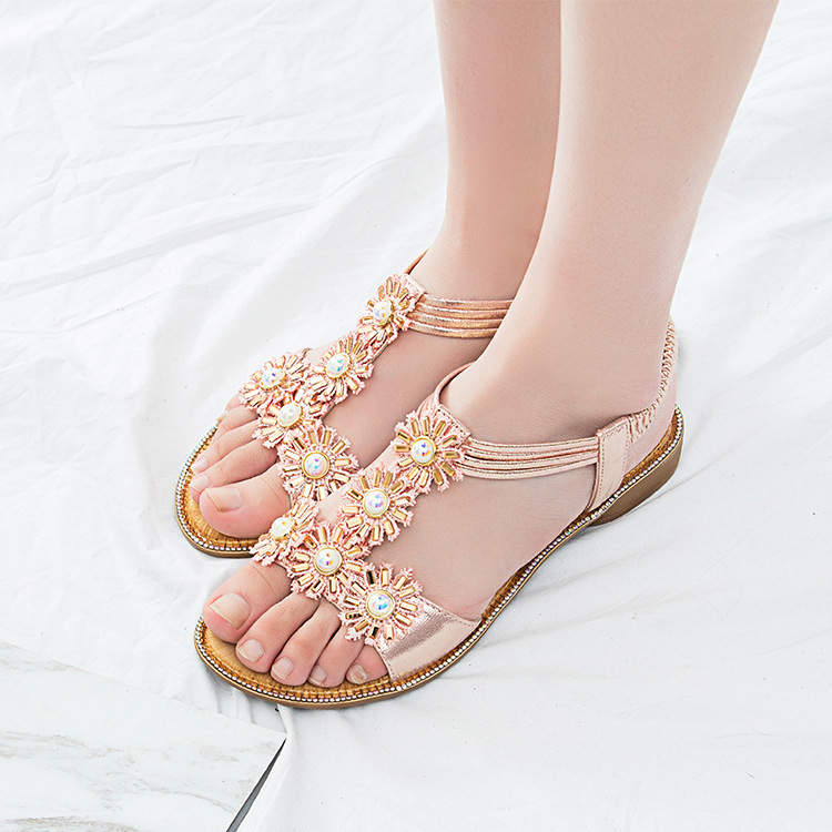 MLJUESE 2018 vrouwen sandalen zomer BOXIMIYA stijl elastische band - Damesschoenen - Foto 5