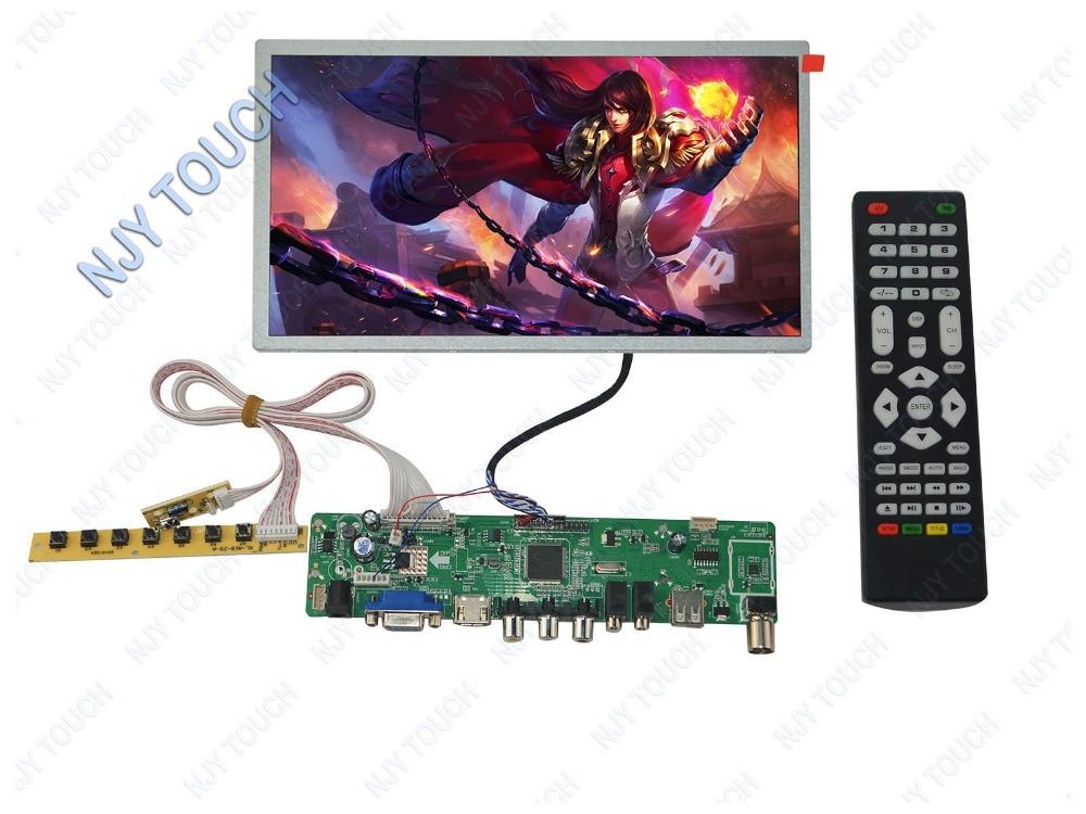 HDMI USB AV VGA ATV LCD Controller Board Plus HSD100IFW1-A00 1024x600 LED Panel new universal hdmi usb av vga atv pc lcd controller board led lvds monitor kit for 13 3inch 1280x800 ltn133at09 panel