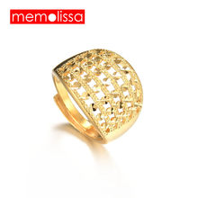 MeMolissa Gold Color Ring for Women,Unique Design Copper Ring Ethiopian/ Arab/India/Nigeria/Middle East Jewelry(China)