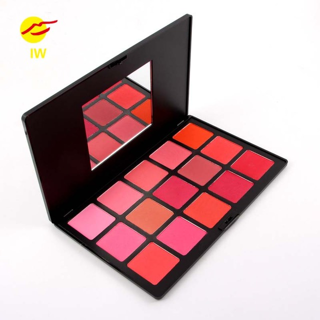 MISS ROSE 15 color red cheek rouge cosmetic box cosmetics box natural lasting quality goods Brand Make-up Nartural Ruddy Blush
