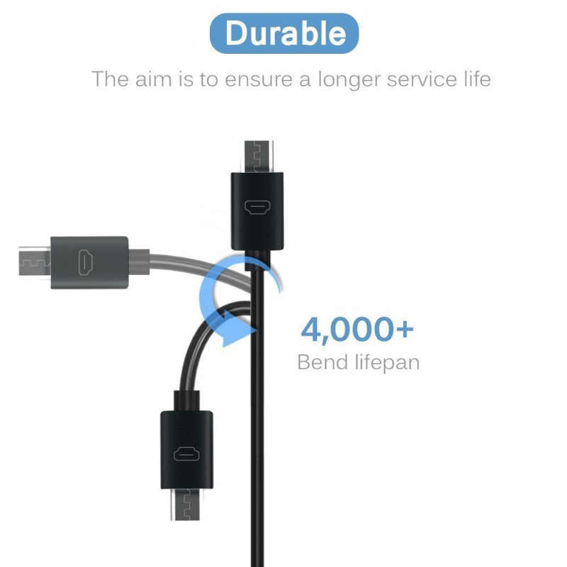 1 M/1.5 M/2 M USB Kabel Pengisian Universal Micro USB Kabel Charge Usb Kabel Data untuk samsung Xiaomi LG Tablet Android Ponsel