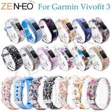 NEW Silicone Bracelet Wristband for Garmin Vivofit 3 Soft Replacement Decorative Pattern Adjustable Strap JR /JR2