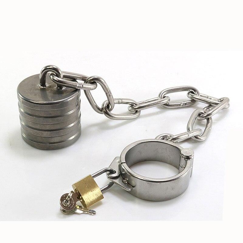 Coq anneaux en acier inoxydable balle Scrotum civière en métal chasteté jouets sexuels pour hommes mâle pénis anneau Bondage esclave adultes produits