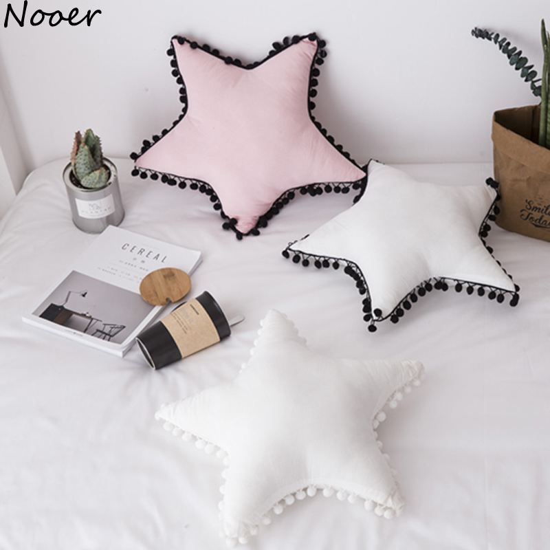Nooer Ins Hot Soft Star Shape Pillow Cushion Kids Baby Sleeping Pillow Plush Toy Home Sofa Decoration Birthday Gift For Girls nooer plush bull terrier dog kids baby toy super soft sleeping pillow for children birthday christmas gift free shipping