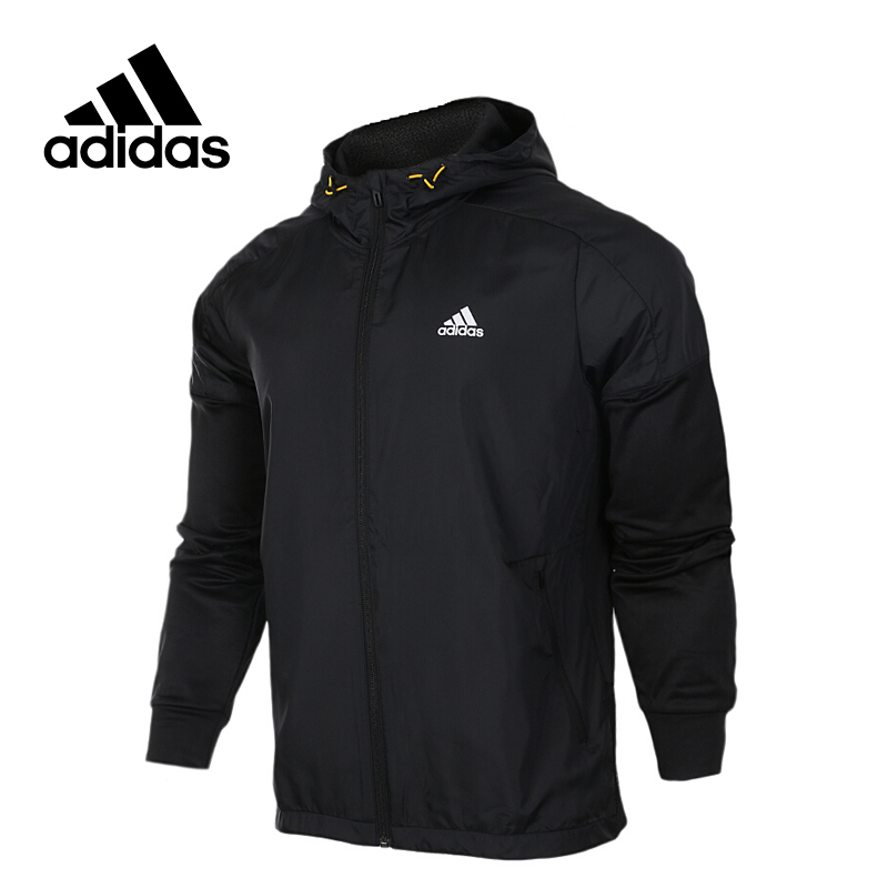 Original New Arrival Official Adidas NEO Men's Windproof Tatting Jacket Hooded Sportswear adidas original new arrival official women s tight elastic waist full length pants sportswear aj8153