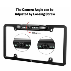 Uniwersalny ramka do tablicy rejestracyjnej 170 stopni kąt samochodowa kamera tylna M8617