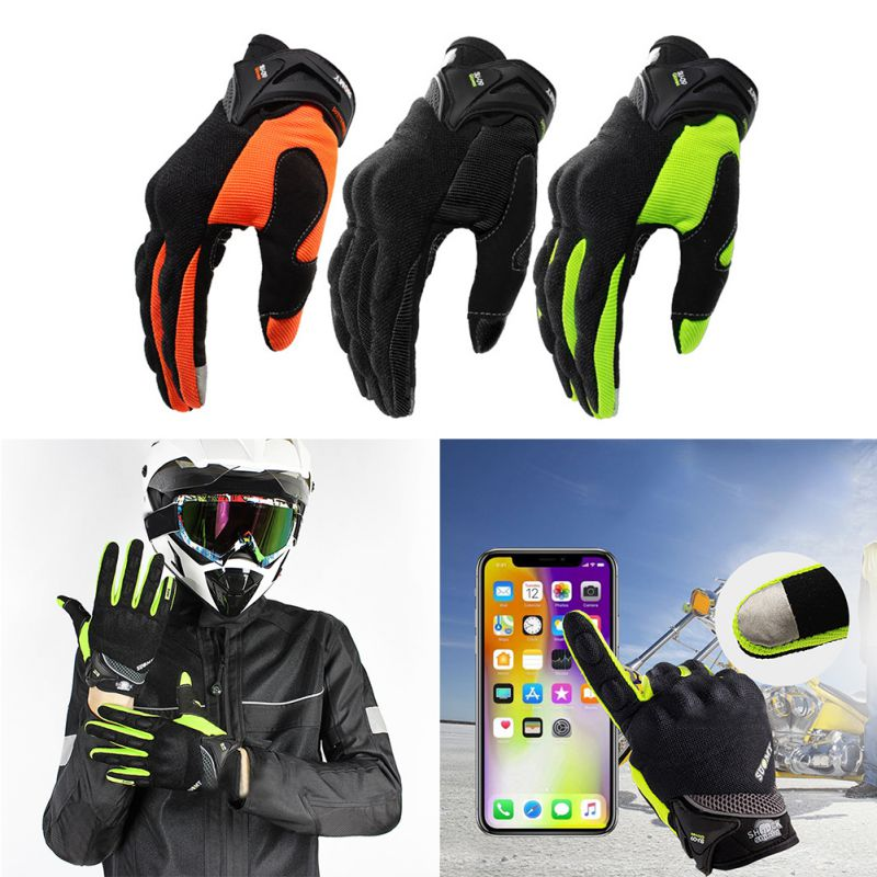 3 Color M-XXLL Outdoor Breathable Riding Gloves Motocross Racing Locomotive Screen Touch Full Finger Gloves