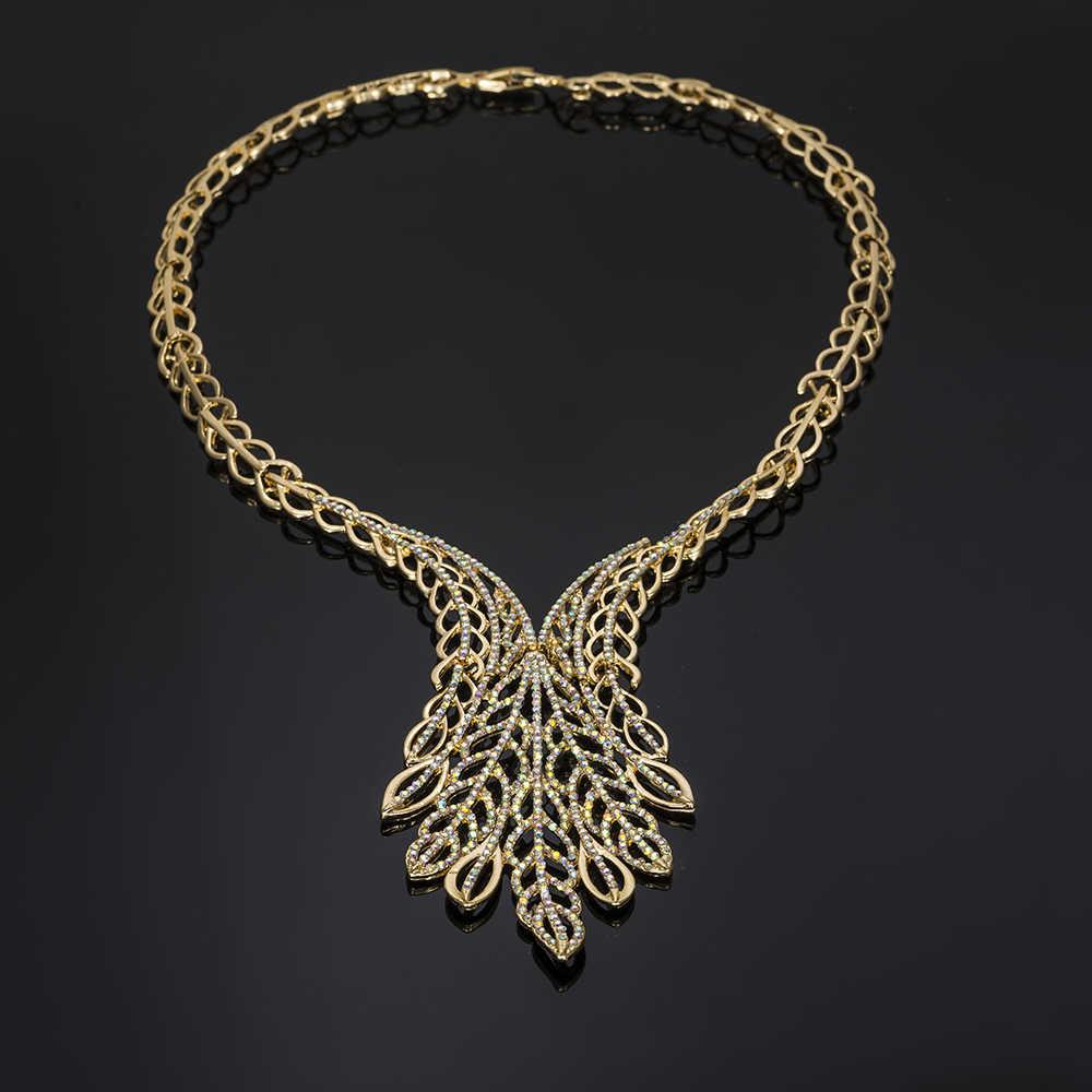 MUKUN индийские комплекты украшений для женщин Свадебные африканские бусы ювелирный набор Дубай золото ожерелье серьги для женщин нигерийские ювелирные изделия