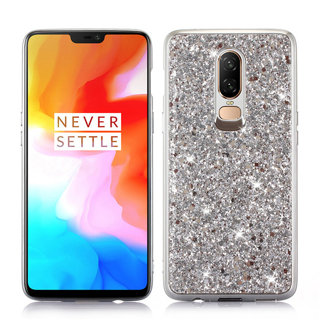 quality design 3f678 e290c US $3.03 36% OFF|Phone Case for Oneplus 6 1+6 Case Silicon Bling Glitter  Crystal Sequins Soft TPU Cover Fundas for Oneplus 6 One Plus Six-in Fitted  ...