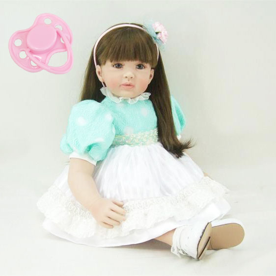 60cm Silicone Vinyl Reborn Baby Doll Toys Lifelike Play House Toy 24inch Princess Toddler Dolls Christmas Birthday Gifts 60cm silicone vinyl reborn baby doll toys girl brinquedos 24inch toddler princess doll play house toy child birthday gifts