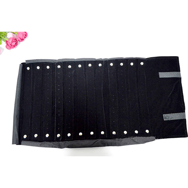Whole Velvet Jewelry Travel Case Black 60pairs Stud Earrings Storage Roll Bag Organizer Carring