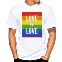 Pride Gay Love Lesbian Rainbow Design Print T-shirts for Man and Women Summer Casual is Tee Shirt Unisex Clothes