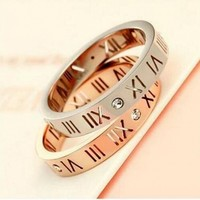 Luxury Brand Celebrity Jewelry Ceramic Titanium Steel Couple Rings For Men Women Rose Gold Color Size