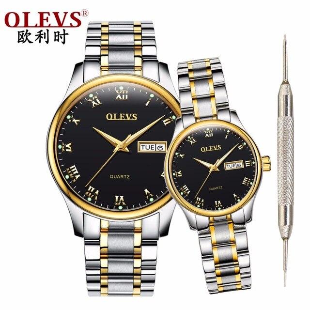 OLEVS mens watches top brand luxury Women's watches relogio masculino feminino c