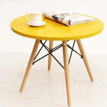 Столы для кафе, мебель из цельного дерева, квадратный круглый стол, сборочный стол, журнальный столик, минималистичный современный 60*46 см/70*73 см