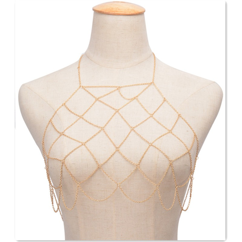 HTB14We_KpXXXXc7aXXXq6xXFXXXD Boho Halter Style Net Grid Tassel Body Chain Jewelry - 2 Colors