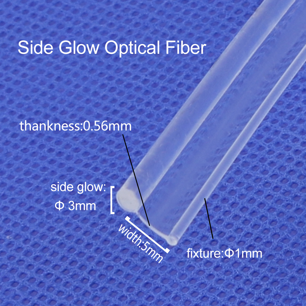 Skirt Side Glow 3.0mm Diameter Plastic PMMA Fiber Optic Cable  5M/10M/20M For Car Decorative Lighting Free Shipping