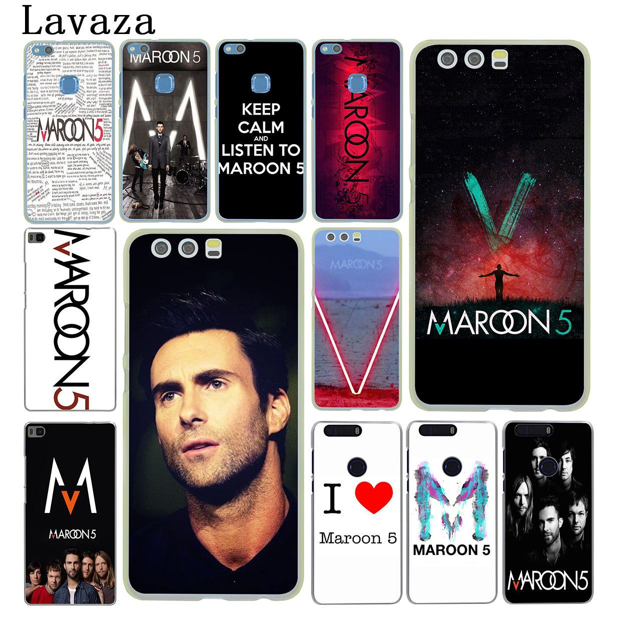 Lavaza maroon 5 Hard Phone Case for Huawei P10 P9 Plus P8 Lite Mini 2015 2016 2017 P7 P6 Mate 10 Lite Pro Cover