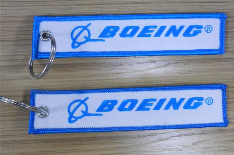 Boeing самолет брелок с логотипом для пилотов - Название цвета: RBF White