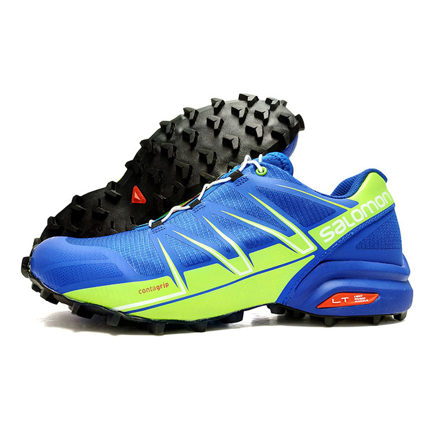 6b484cca5467 Hot Sale Salomon Men s Running Shoes Speed Cross 3 CS Cool Sports Sneakers  Male Cross-country Anti-slip Jogging Shoes