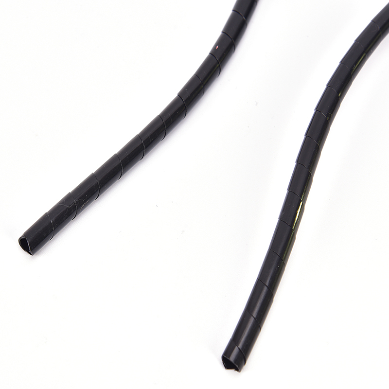 6mm Outside Dia 17M PE Polyethylene Spiral Cable Wire Wrap Tube Black TDCAHF IQ